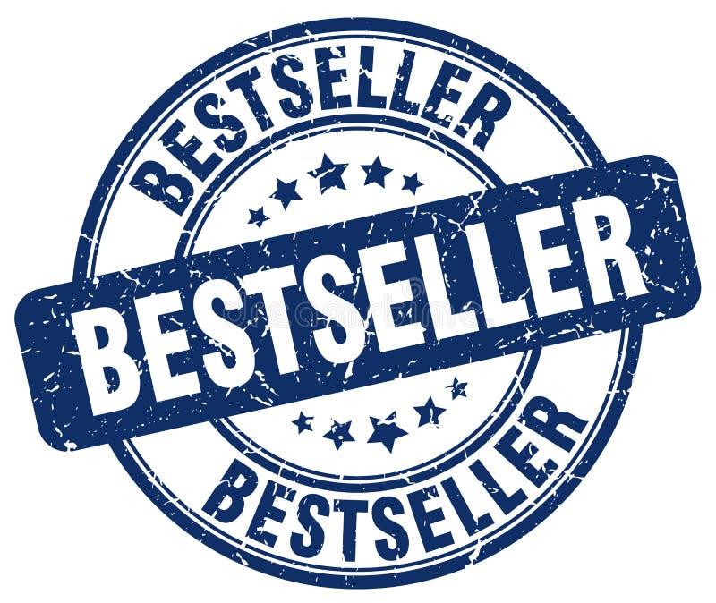 Best-seller blauwe zegel stock illustratie