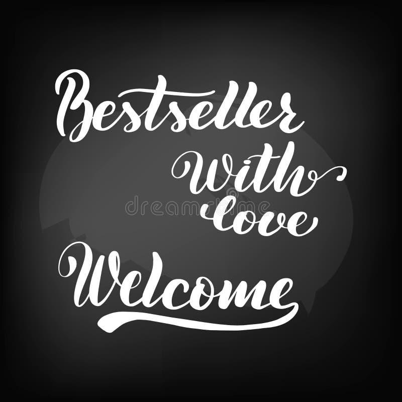 best-seller Met liefde Welkom bord royalty-vrije illustratie