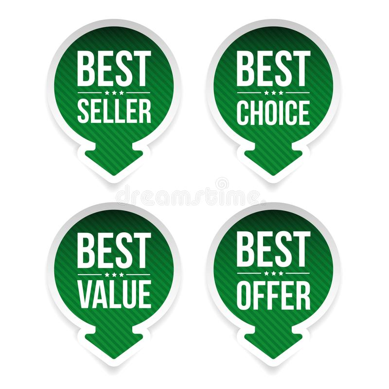 Best-seller, migliore valore, migliore scelta royalty illustrazione gratis