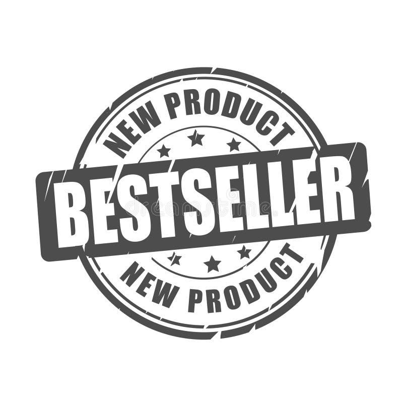 Best-seller, nieuw product vectorzegel vector illustratie