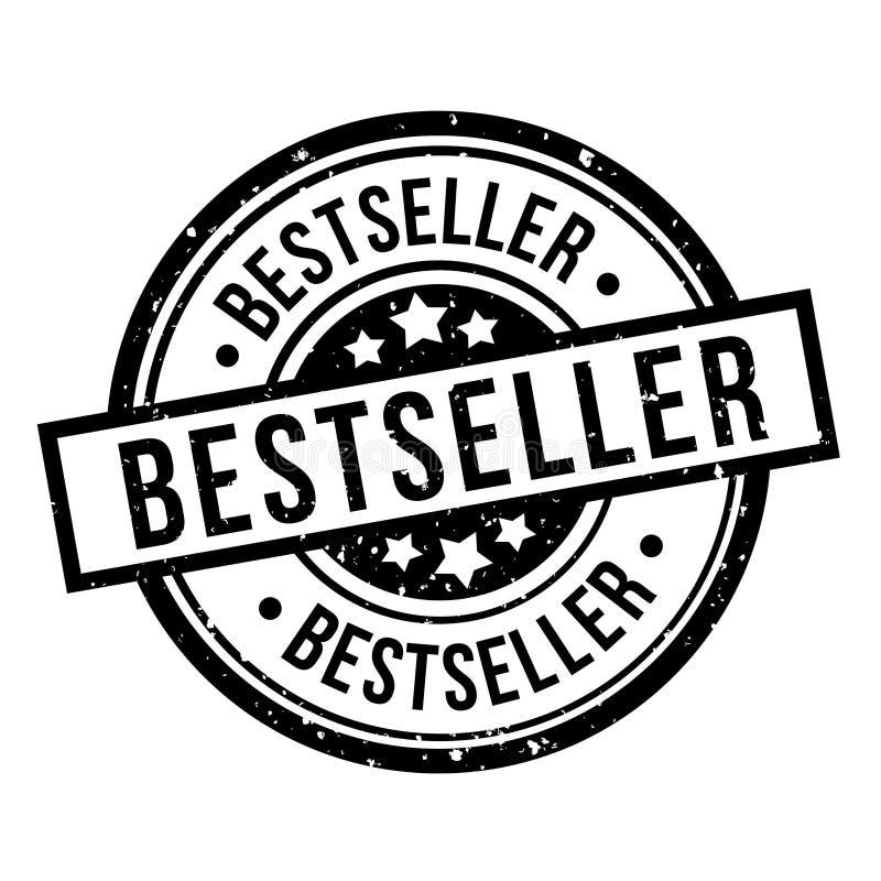 Best-seller om het zwarte kenteken van de grungezegel stock illustratie