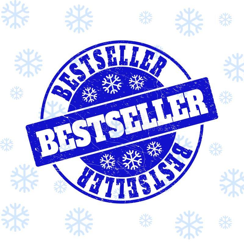 Best-seller om Zegelverbinding voor Kerstmis wordt gekrast die vector illustratie