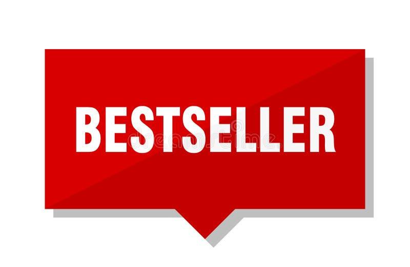 Best-seller rode markering vector illustratie