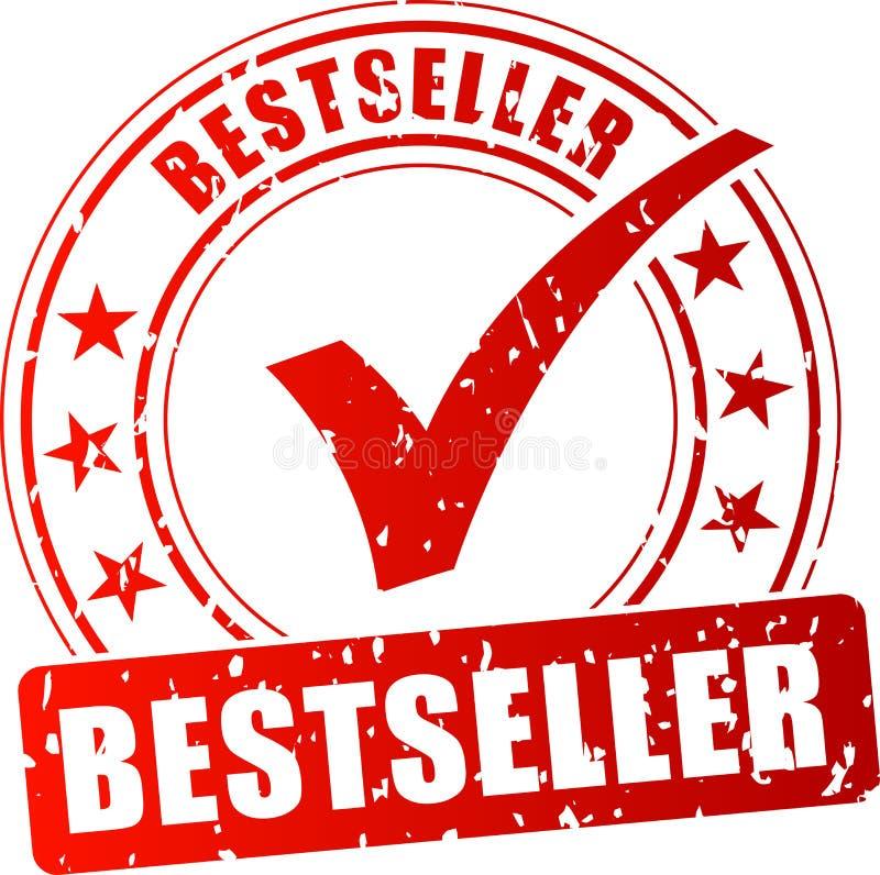 Best-seller rode zegel vector illustratie