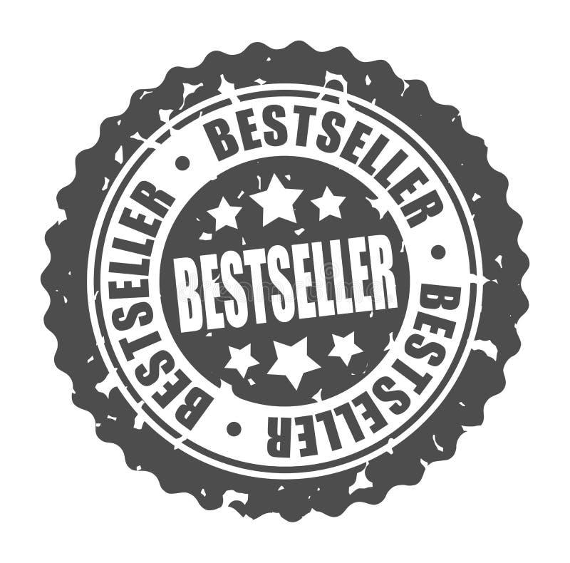 BEST-SELLER rond de timbre de vecteur illustration stock
