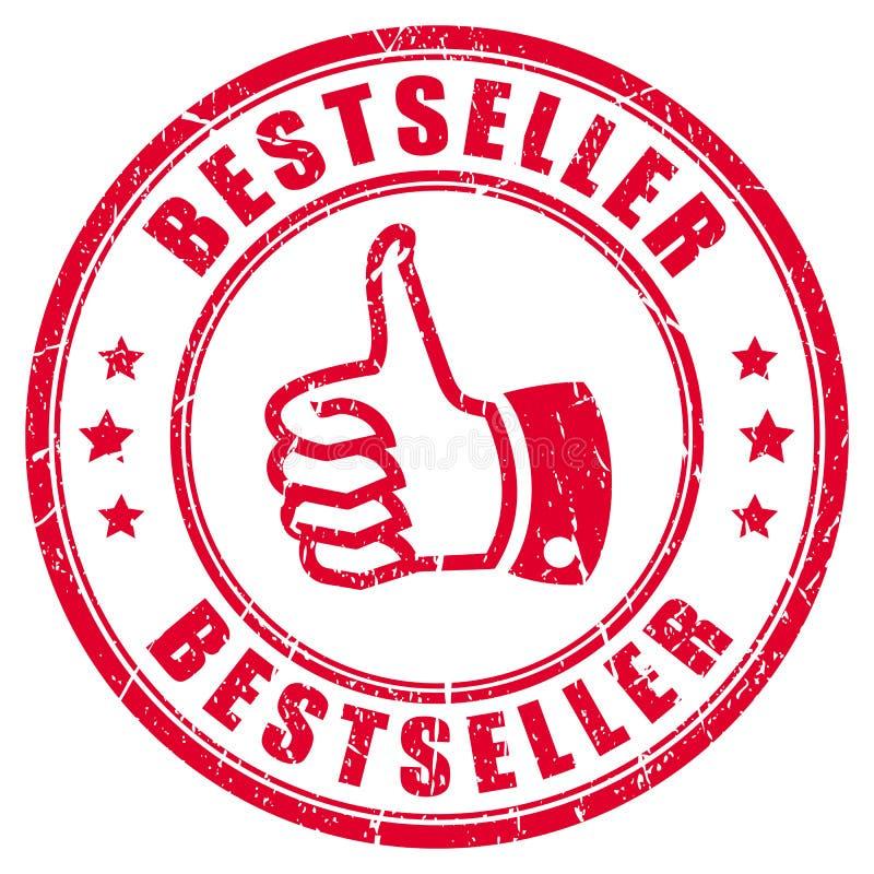 Best-seller rubberzegel stock illustratie