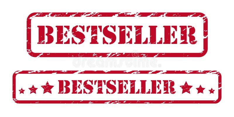 Best-seller rubberzegels royalty-vrije illustratie