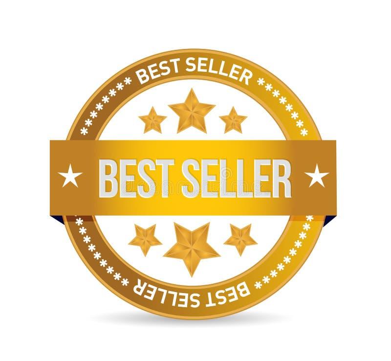 best seller seal illustration design royalty free illustration