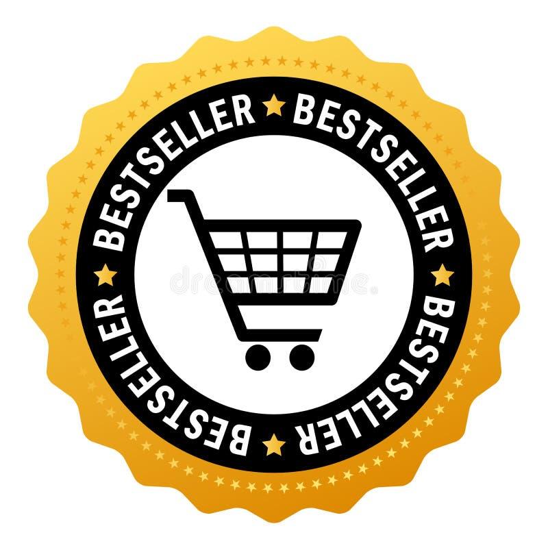 Best-seller vectorsymbool royalty-vrije illustratie