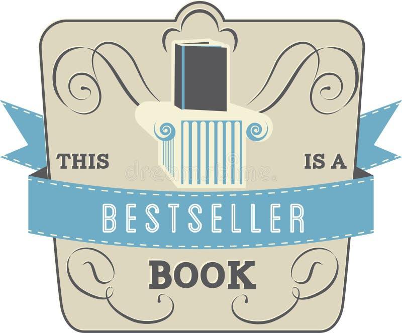 Best-sellerboek stock illustratie