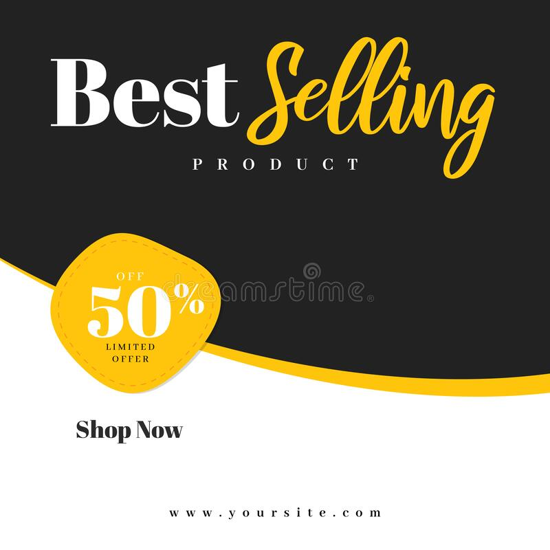 Best Selling Product Square Banner stock image