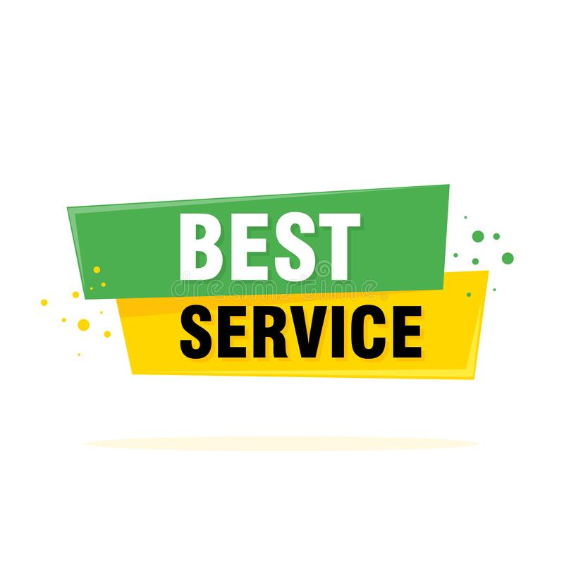 Best service sign, emblem, label, badge, sticker. Designed for your web site design, logo, app, UI royalty free illustration