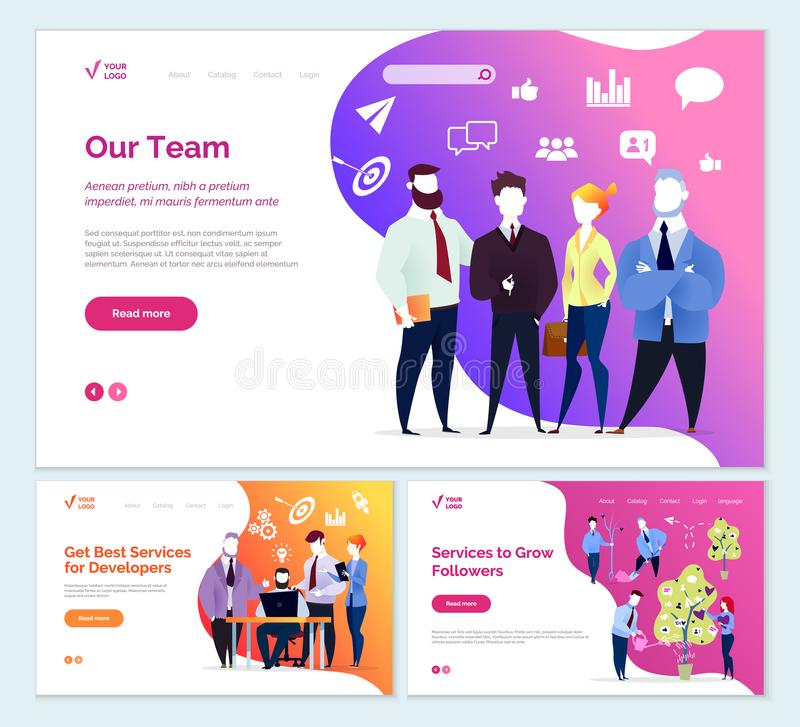 Best Services Developer Services to Grow Followers vector illustration