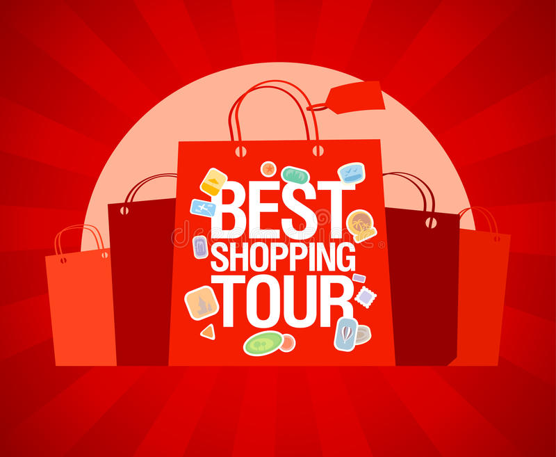 Download Best Shopping Tour Design Template. Stock Vector - Image: 25318291