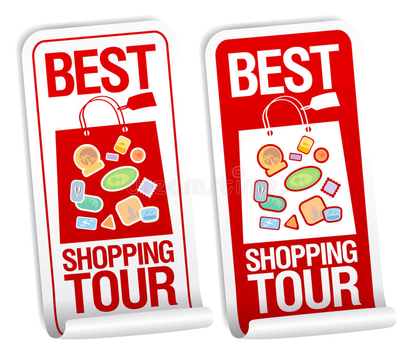 Download Best Shopping Tour Stickers. Stock Vector - Image: 25318293