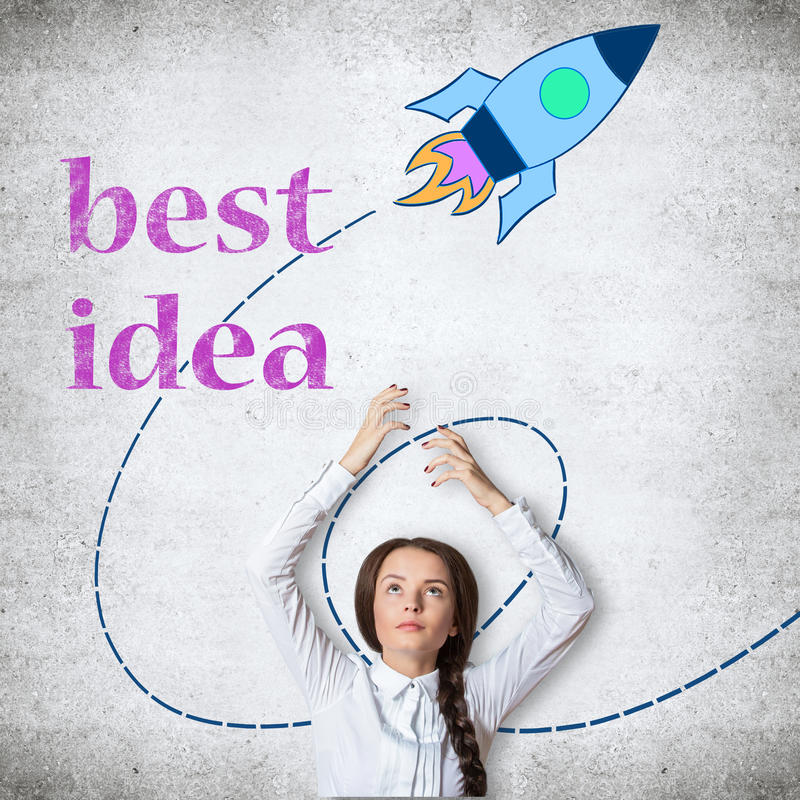 Best startup idea royalty free stock images