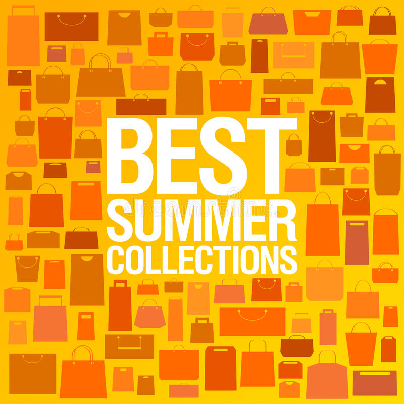 Best summer collections design template. stock illustration
