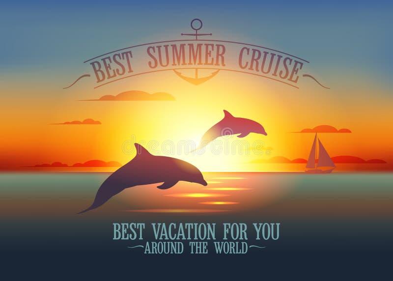 Best summer cruise design vector illustration
