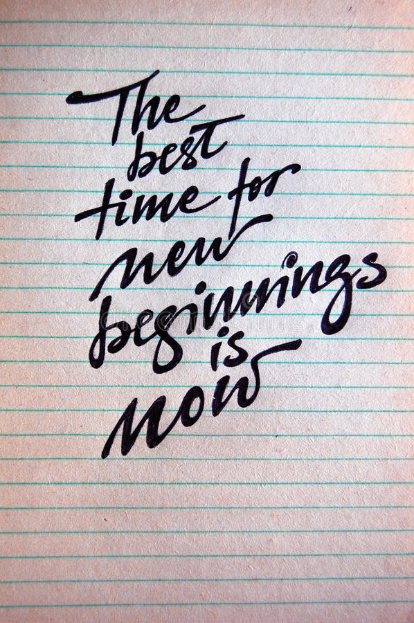 Download The Best Time For New Beginnings Is Now Stock Photo - Image: 83711464