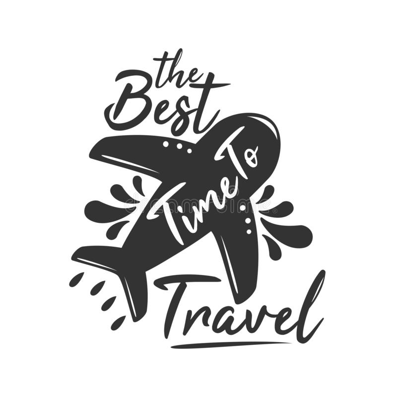 The Best Time to Travel stock illustration