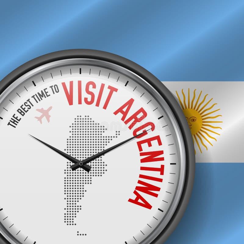 The Best Time to Visit Argentina. Flight, Tour to Argentina. Vector Illustration. The Best Time to Visit Argentina. Travel to Argentina. Tourist Air Flight stock illustration