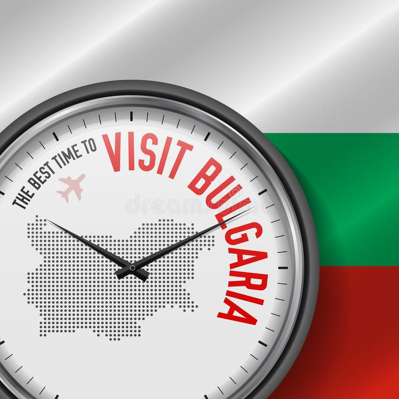 The Best Time to Visit Bulgaria. Flight, Tour to Bulgaria. Vector Illustration vector illustration