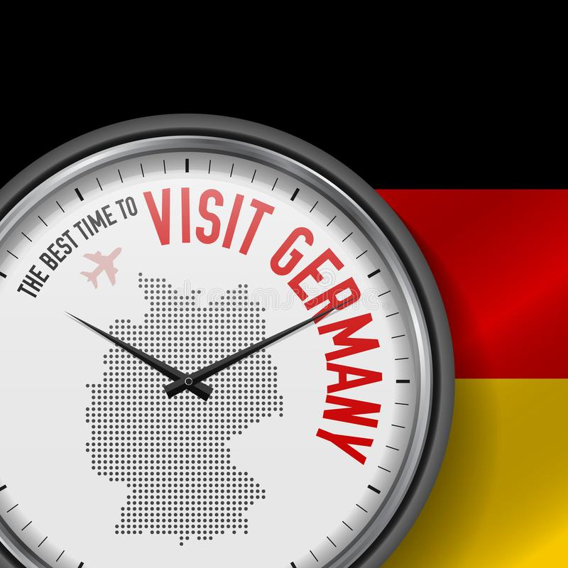 The Best Time to Visit Germany. Flight, Tour to Germany. Vector Illustration vector illustration