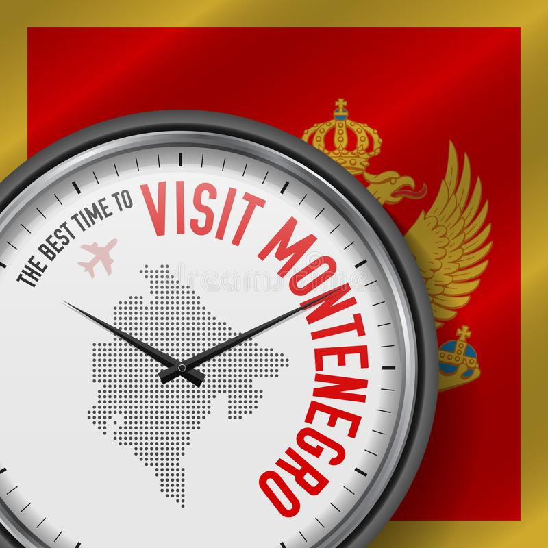 The Best Time to Visit Montenegro. Flight, Tour to Montenegro. Vector Illustration vector illustration