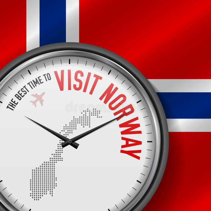 The Best Time to Visit Norway. Flight, Tour to Norway. Vector Illustration vector illustration