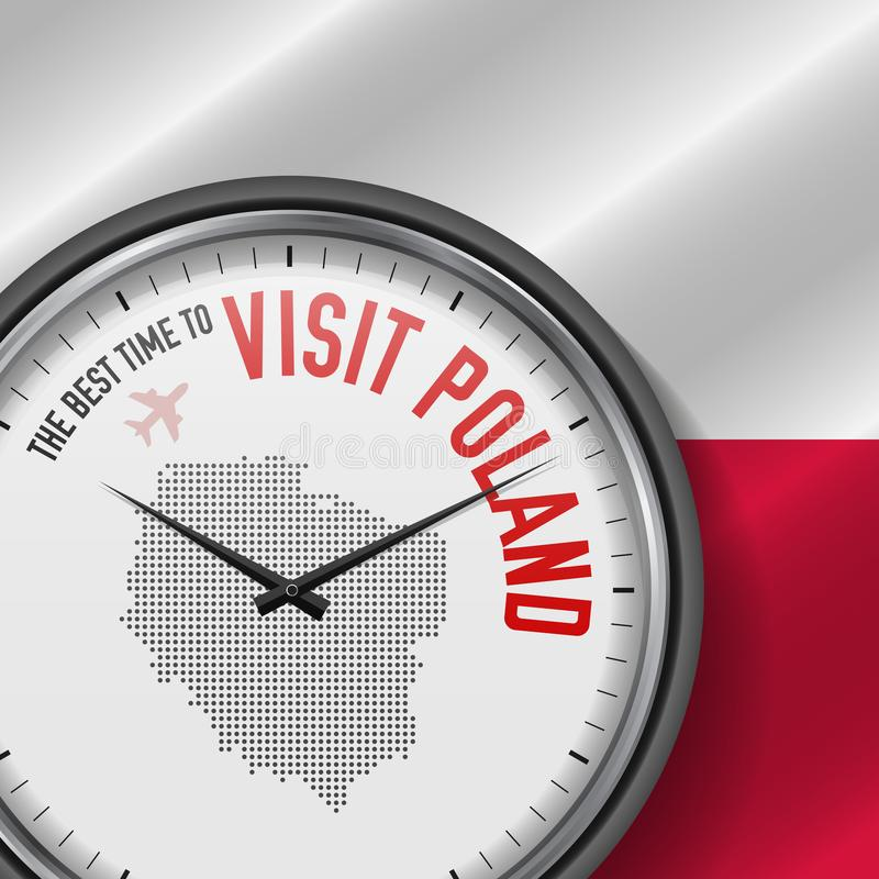 The Best Time to Visit Poland. Flight, Tour to Poland. Vector Illustration vector illustration