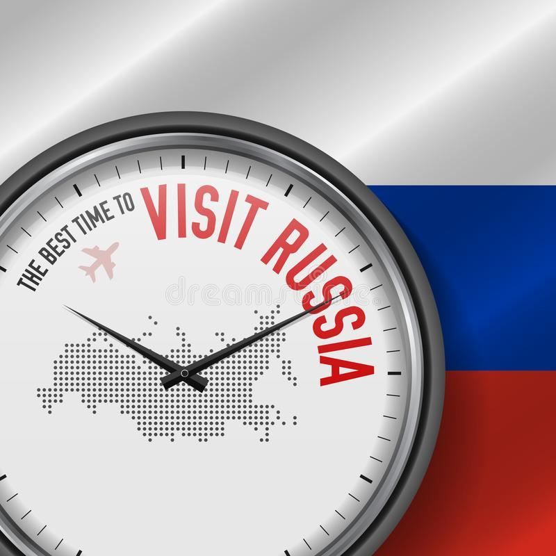 The Best Time to Visit Russia. Flight, Tour to Russia. Vector Illustration vector illustration