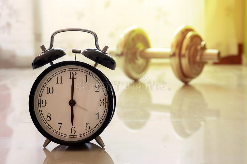 Best time to workout concept stock photography