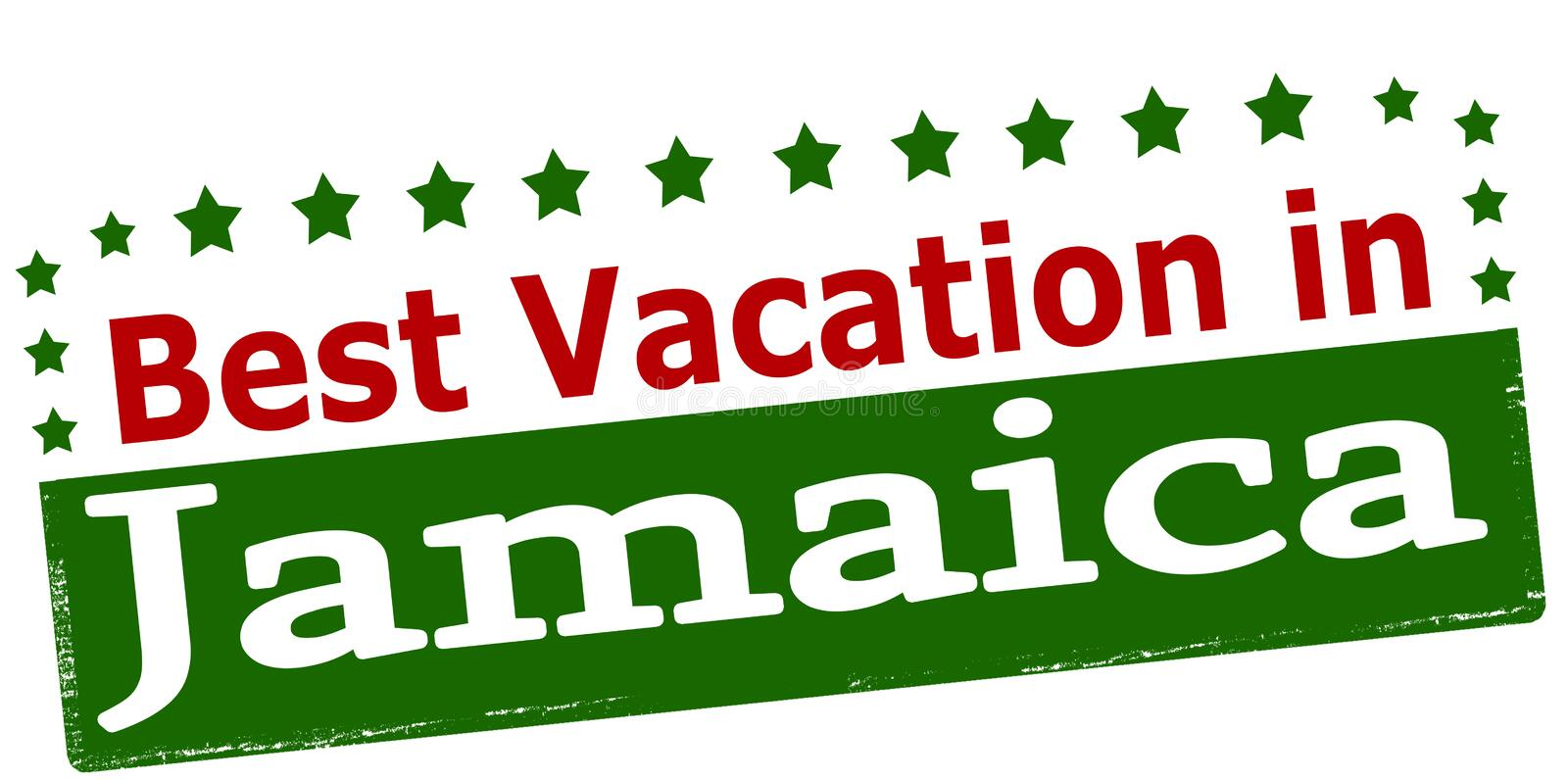 Best vacation in Jamaica. Rubber stamp with text best vacation in Jamaica inside, vector illustration stock illustration