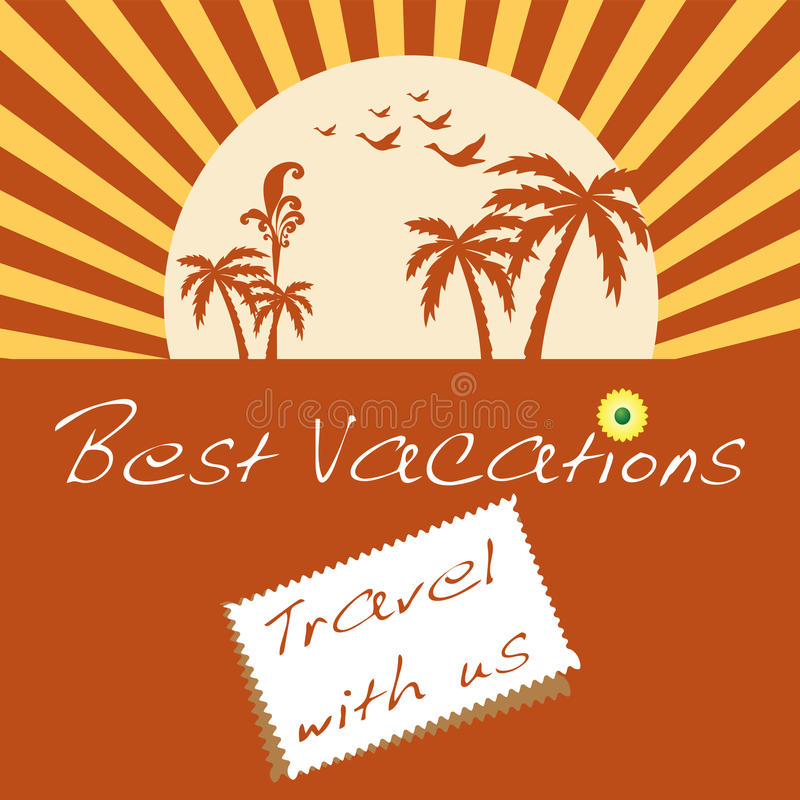 Download Best vacations stock vector. Image of paradise, illustration - 25546901