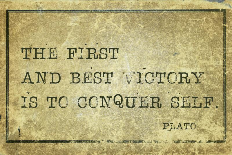 Best victory Plato royalty free stock image