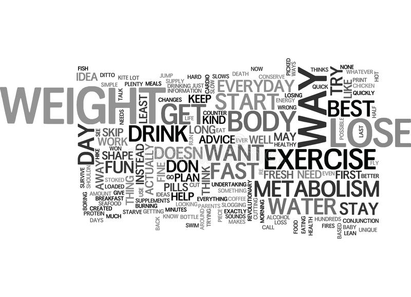 Best Way To Lose Weight Fast Word Cloud royalty free illustration