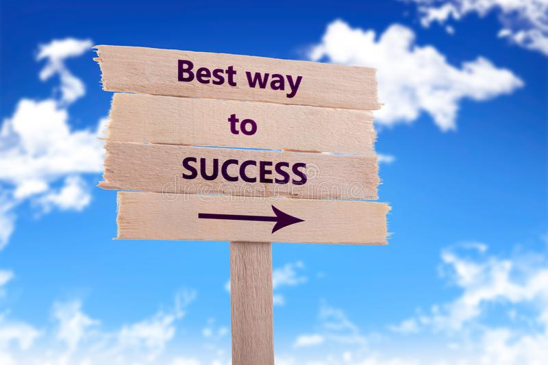 Best way to success stock photos