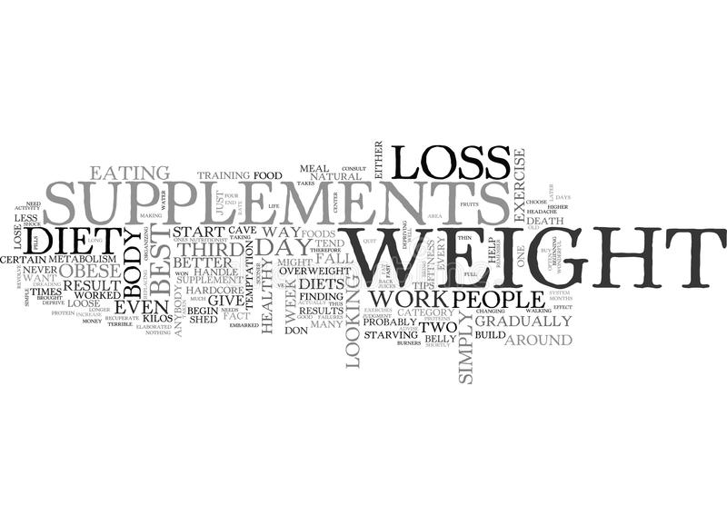 Best Weight Loss Supplements How To Find The Top Ones To Help You Lose The Weight You Need Word Cloud royalty free illustration