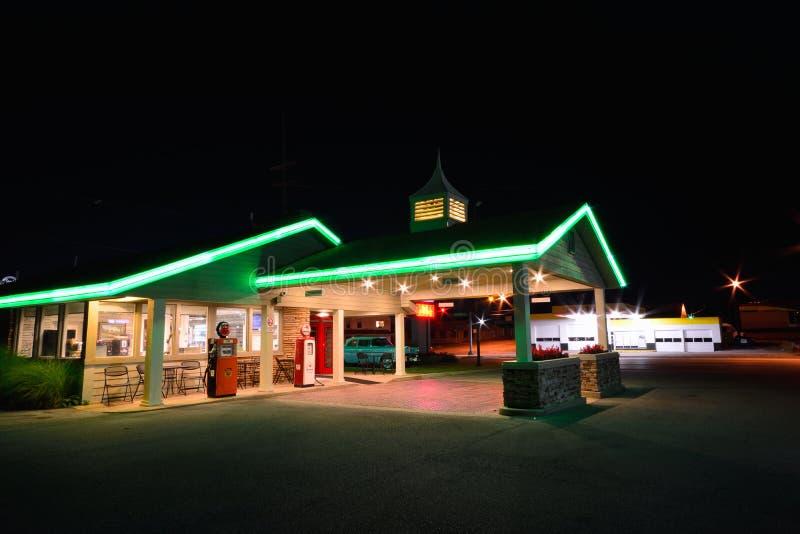 Best Western befördern Hafenmotel mit der Eisenbahn Berühmtes Motel auf Route 66 stockbilder