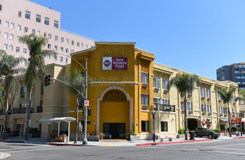 Best Western Plus Hotel Long Beach. LONG BEACH, CALIF - SEPT 10, 2018: Best Western Plus Hotel. Near the Convention Center and business district in downtown Long royalty free stock image