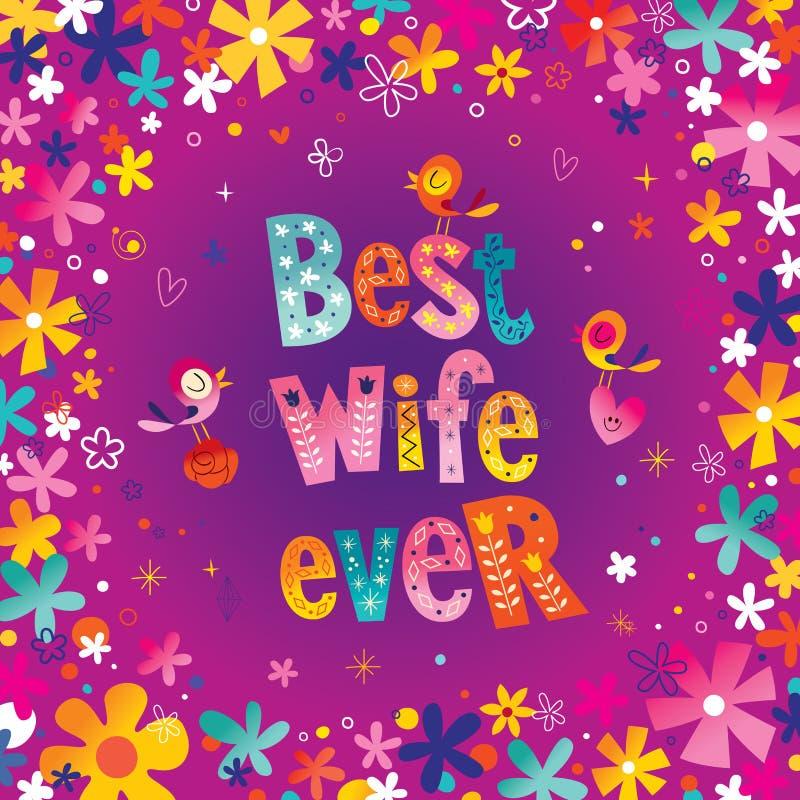 Best wife ever vector illustration