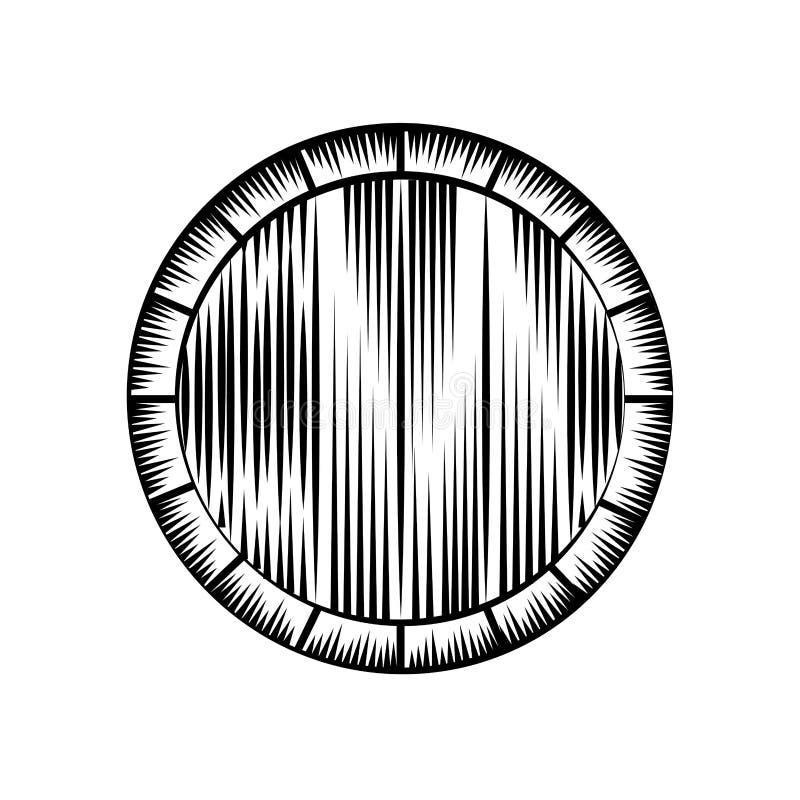 Best wine barrel icon vector illustration