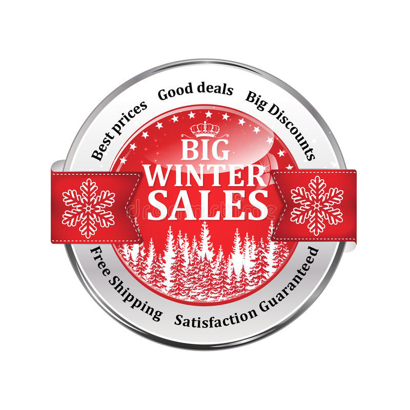Best Winter Deals. Special Offer, Big Sales Icon / Sticker