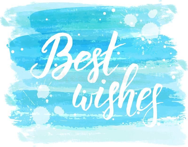 Best wishes calligraphy vector illustration