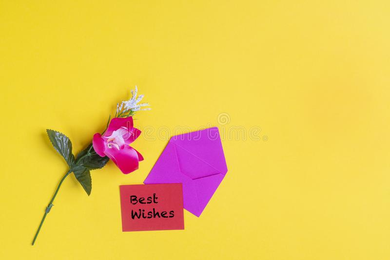 Best wishes card stock photography