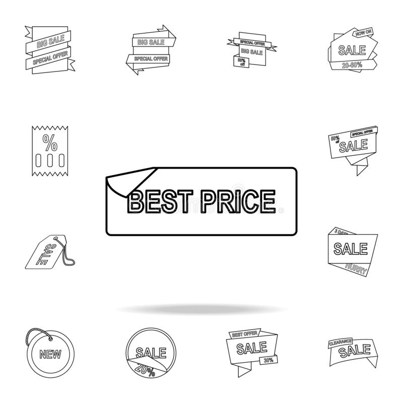 Best word sticker icon. Detailed set of clearance sale icons. Premium graphic design. One of the collection icons for websites,. Web design, mobile app on white royalty free illustration