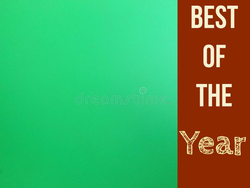 Best of the year banner with blank green screen page for use. Best year banner blank green screen page use tag label vector illustration