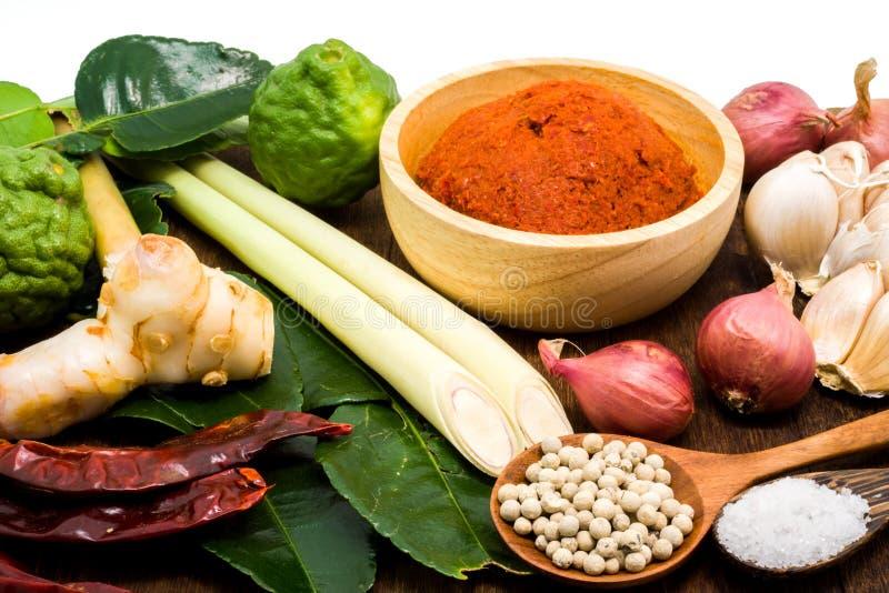 Bestandteil der thailändischen roten Curry-Paste lizenzfreies stockfoto