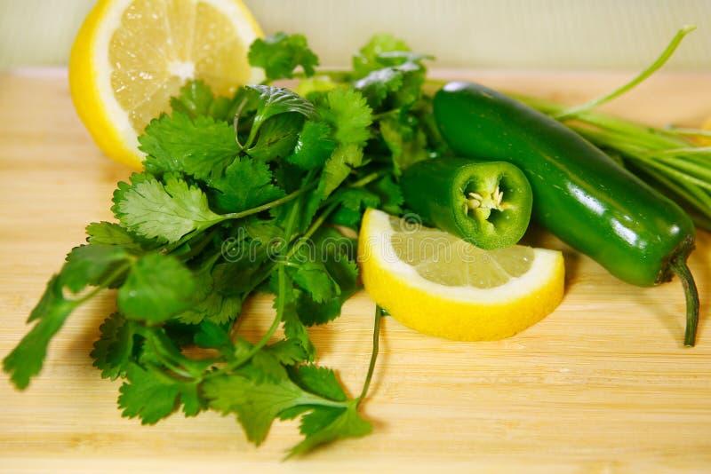 Bestandteile für Gewürz-Salsa lizenzfreies stockfoto