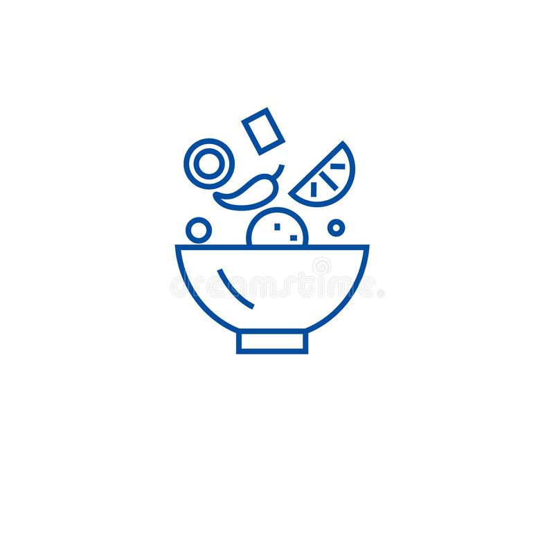 Bestandteile mischen Linie Ikonenkonzept Bestandteile mischen flaches Vektorsymbol, Zeichen, Entwurfsillustration vektor abbildung